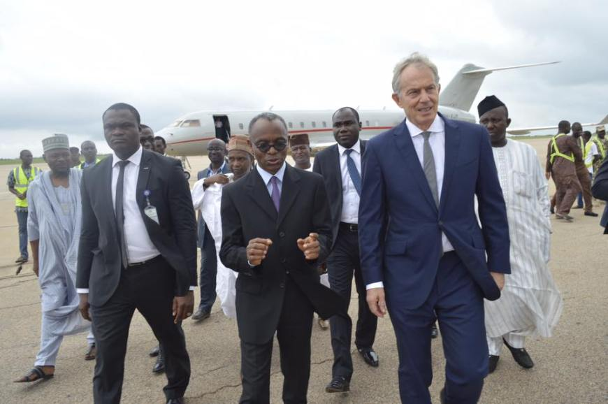 Tony Blair Arrives Kaduna